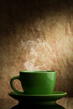 Green cup of coffee Stock Image