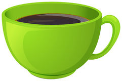 A green cup with coffee Stock Images