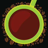 Green cup coffee summer time Stock Images