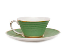 Green cup of hot coffee Stock Photography