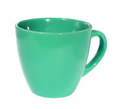 Green Cup (isolated). Royalty Free Stock Images