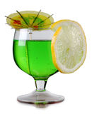 Green cup and lemon Stock Photography