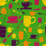 Green cup pattern Stock Photography