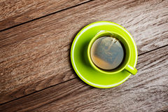 Green cup of tea Royalty Free Stock Images