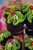 Green cupcake Royalty Free Stock Photos