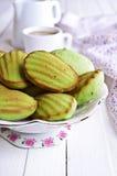 Green cupcake Stock Photos