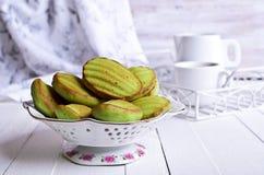 Green cupcake Stock Photography