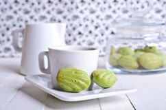 Green cupcake Stock Image
