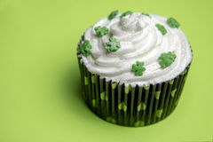 Green cupcake Stock Photography