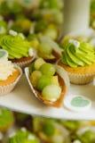 Green cupcakes royalty free stock photo