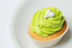 Green cupcakes royalty free stock photography