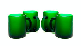 Green cups Royalty Free Stock Photos
