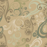 Green curlicues  seamless pattern Stock Photos