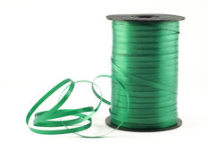 Green Curling Ribbon Stock Photo