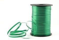 Green Curling Ribbon Stock Photo