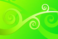 Green Curls Stock Photo