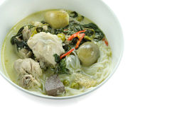 Green curry in bowl Stock Images