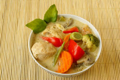 Green curry chicken Stock Photo