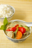 Green curry chicken Stock Image