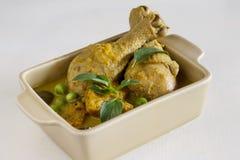 Green curry chicken. Stock Photos