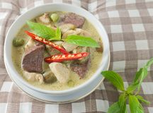 Green Curry with Chicken and Coconut Milk Stock Image