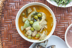Green curry with chicken Royalty Free Stock Photos