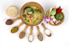 Green Curry With Chicken Recipes (Food Thailand) Stock Photography