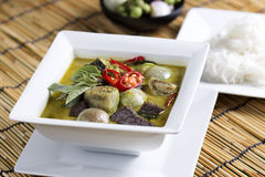 Green curry Chicken soup Thai spicy food Stock Image