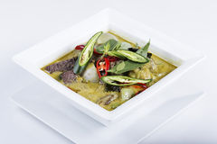 Green curry Chicken soup Thai spicy food Stock Photos