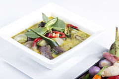 Green curry Chicken soup Thai spicy food Stock Images
