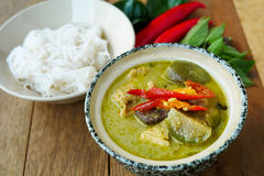 Green Curry with Chicken Royalty Free Stock Images