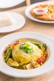 Green Curry With Chicken and wrap egg. Rice Royalty Free Stock Image