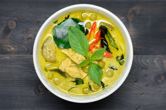 Green curry with chicken Stock Image