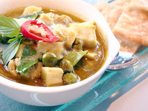Green curry with coconut milk Royalty Free Stock Image