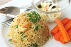 Green curry fried rice Stock Photography