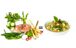 Green curry ingredient Royalty Free Stock Photo
