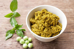 Green curry paste Royalty Free Stock Image