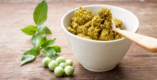 Green curry paste Royalty Free Stock Photo