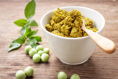 Green curry paste Royalty Free Stock Images