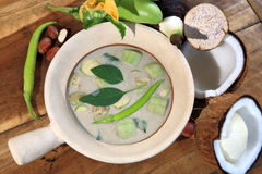 Green Curry proportion ingredients Royalty Free Stock Photography