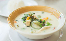Green curry soup Royalty Free Stock Image