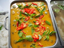 Green curry. Spicy Food of thailand Royalty Free Stock Images