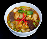 Chicken green curry a taste of Thai food Royalty Free Stock Image