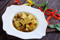 Green curry Tofu  vegetable food. Stock Photography