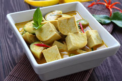 Green curry Tofu  vegetable food. Stock Images