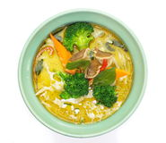 Green curry vegetables Royalty Free Stock Photography