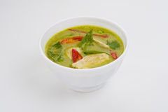 Green curry in a white bowl Royalty Free Stock Photos