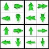 Green cursors Stock Image