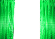 Green Curtain Royalty Free Stock Photo