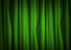 Green curtain Royalty Free Stock Photos